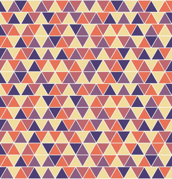 Triangle Mixed Media - Triangular Geometric Pattern - Warm Colors 04 by Studio Grafiikka