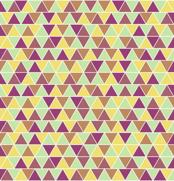 Triangle Mixed Media - Triangular Geometric Pattern - Warm Colors 05 by Studio Grafiikka