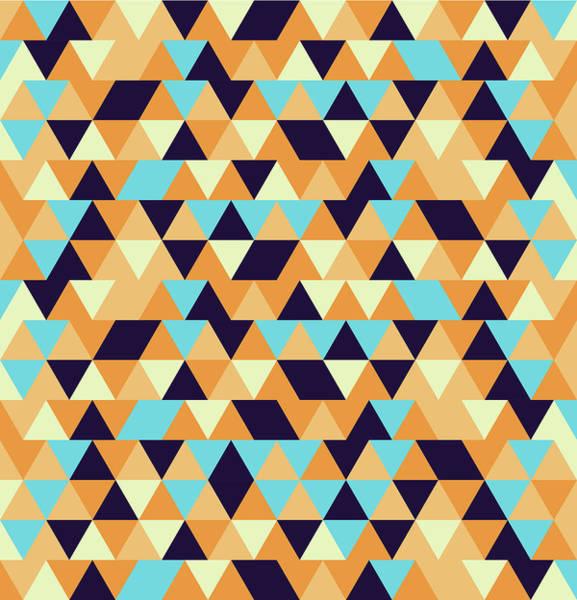 Triangle Mixed Media - Triangular Geometric Pattern - Warm Colors 06 by Studio Grafiikka