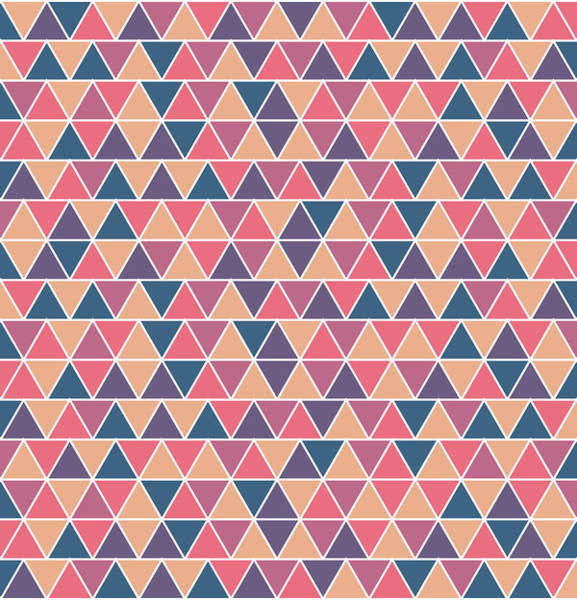 Triangle Mixed Media - Triangular Geometric Pattern - Warm Colors 07 by Studio Grafiikka