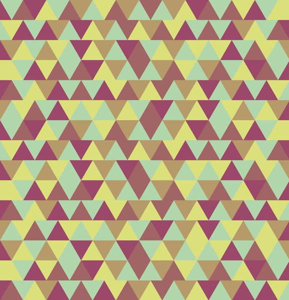 Lime Mixed Media - Triangular Geometric Pattern - Warm Colors 08 by Studio Grafiikka