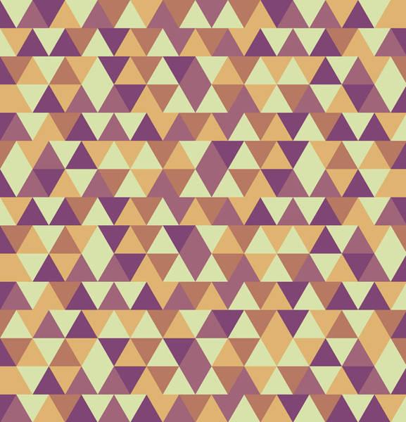 Triangle Mixed Media - Triangular Geometric Pattern - Warm Colors 10 by Studio Grafiikka
