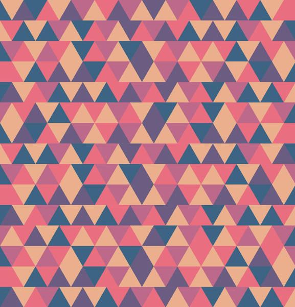 Triangle Mixed Media - Triangular Geometric Pattern - Warm Colors 11 by Studio Grafiikka