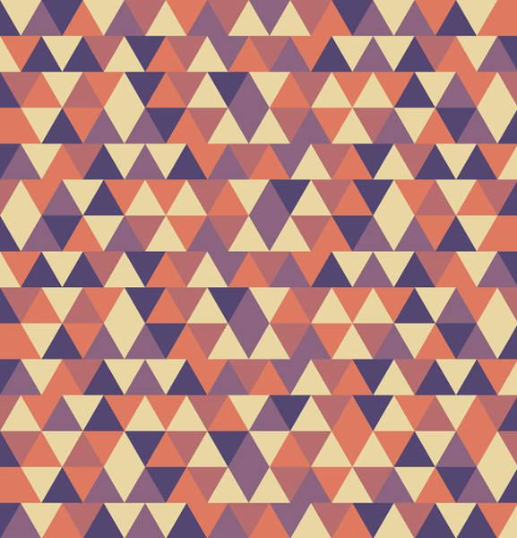 Triangle Mixed Media - Triangular Geometric Pattern - Warm Colors 12 by Studio Grafiikka