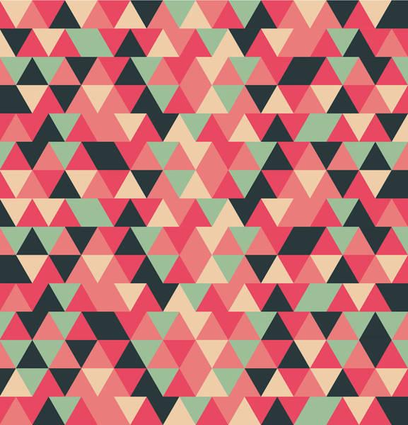 Triangle Mixed Media - Triangular Geometric Pattern - Warm Colors 13 by Studio Grafiikka
