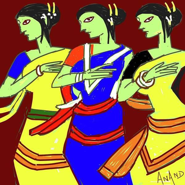 Tribal Dance Digital Art - Tribal Beauties by Anand Swaroop Manchiraju