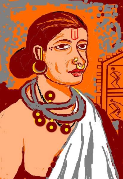 Tribal Dance Digital Art - Tribal Beauty by Anand Swaroop Manchiraju