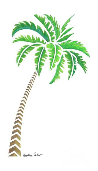 Drawing - Tribal Coconut Palm Tree by Heather Schaefer