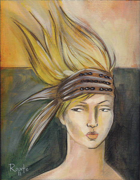 Tribal Woman Wall Art - Painting - Tribal by Jacque Hudson
