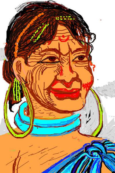 Tribal Dance Digital Art - Tribal Portrait by Anand Swaroop Manchiraju