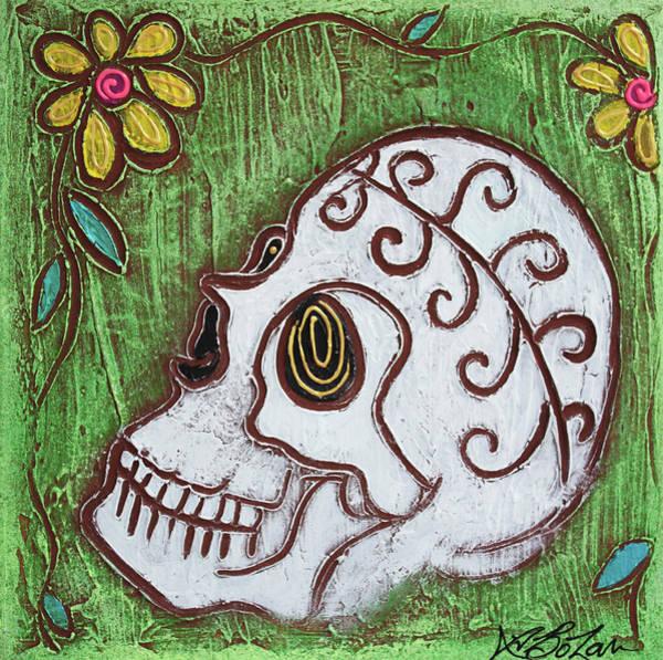 Wall Art - Painting - Tribal Skull by Laura Barbosa