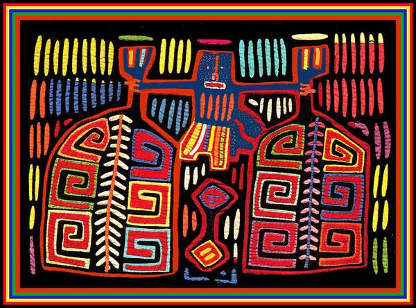 Panama Digital Art - Tribal Woman Fanning Stove by Vagabond Folk Art - Virginia Vivier