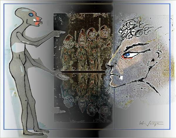 Mixed Media - Tribalism  2 by Hartmut Jager