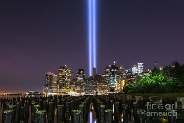 Wall Art - Photograph - Tribute In Light From Brooklyn Sticks by Michael Ver Sprill
