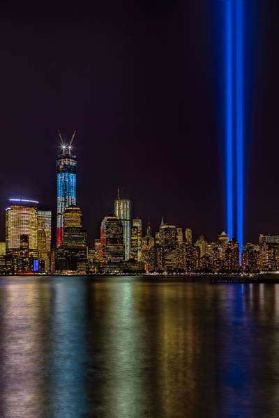 Beam Of Light Photograph - Tribute In Lights Memorial by Susan Candelario