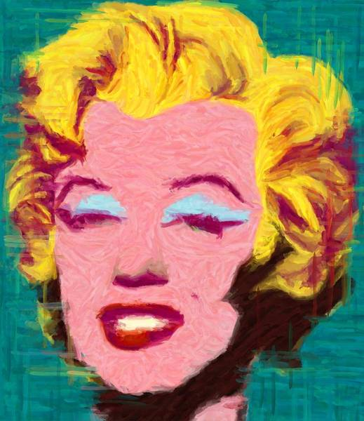 Digital Art - Tribute To Andy Warhol - Monroe by Caito Junqueira