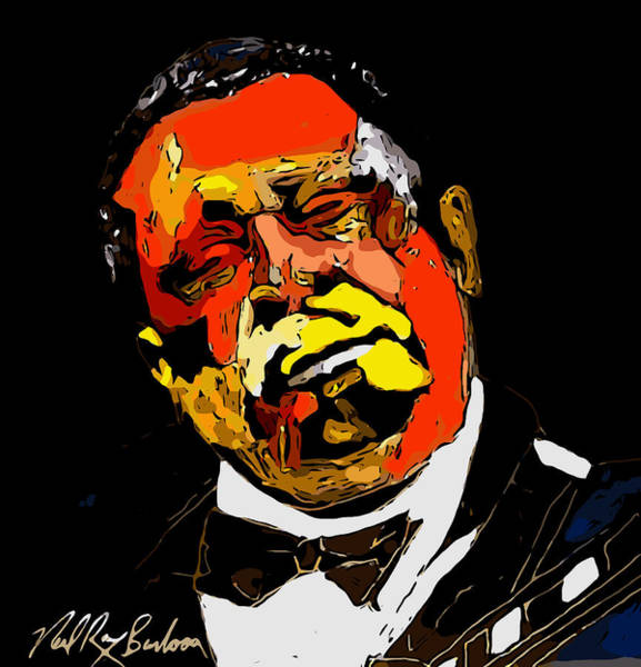 Painting - tribute to BB King reworked by Neal Barbosa