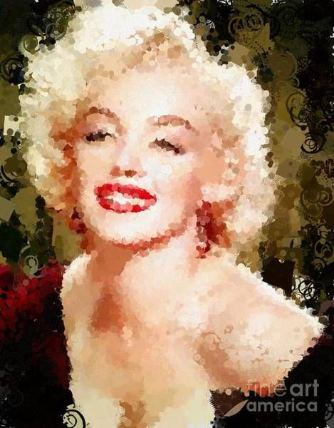 Painting - Tribute To Marilyn Monroe Dot To Dot Hotty Totty Style by Catherine Lott