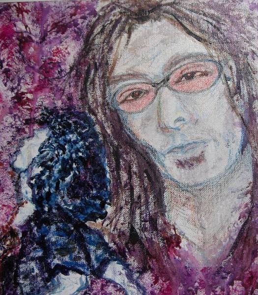 Steve Vai Painting - Tribute To Vai by Cathy Minerva