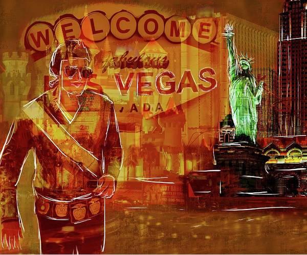 Digital Art - Tribute To Vegas Collage by Eduardo Tavares