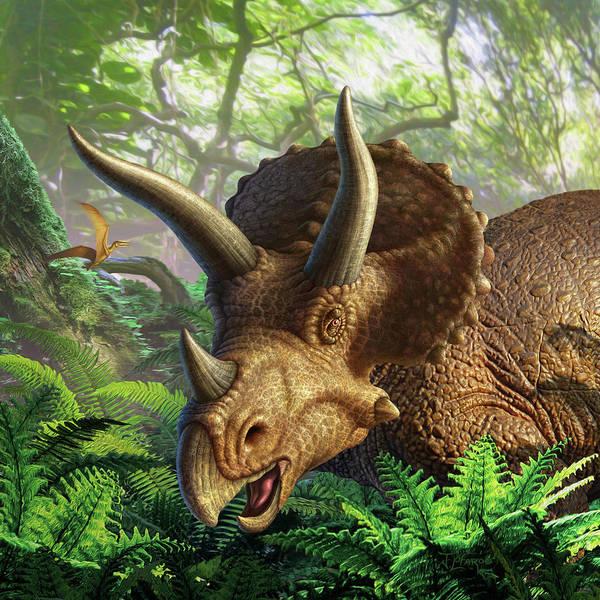 Wall Art - Digital Art - Triceratops by Jerry LoFaro