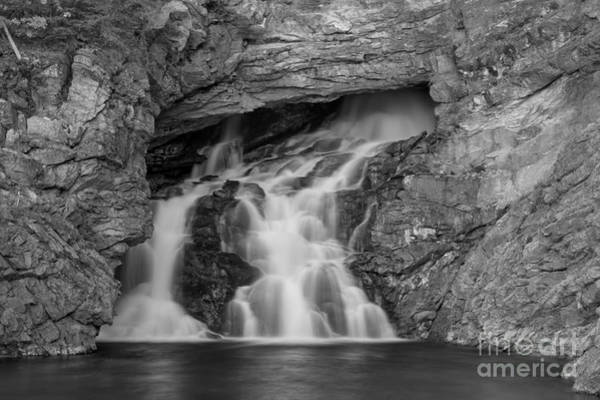 Photograph - Trick Falls Closeup Black And White by Adam Jewell