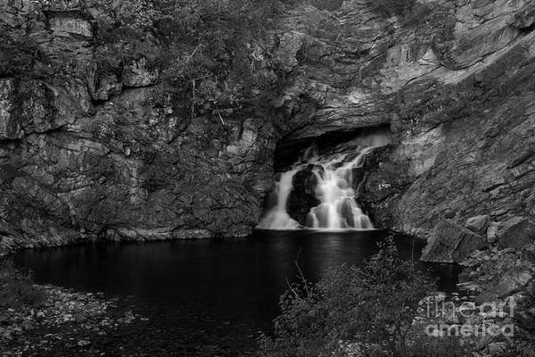 Photograph - Trick Falls In Black And White by Adam Jewell