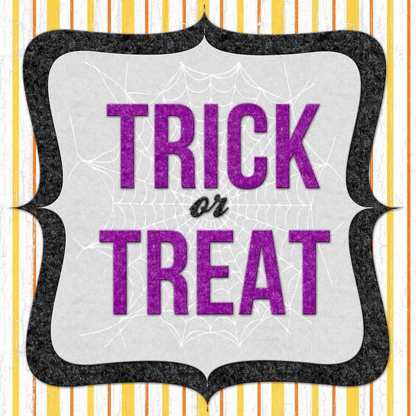 Stripe Mixed Media - Trick Or Treat- Art By Linda Woods by Linda Woods