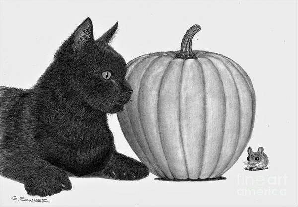 Trick Or Treat Drawing - Trick Or Treat by George Sonner