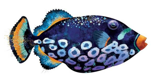 Wall Art - Digital Art - Trigger Fish by Trevor Irvin