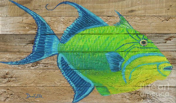 Recycle Painting - Triggerfish by Danielle Perry