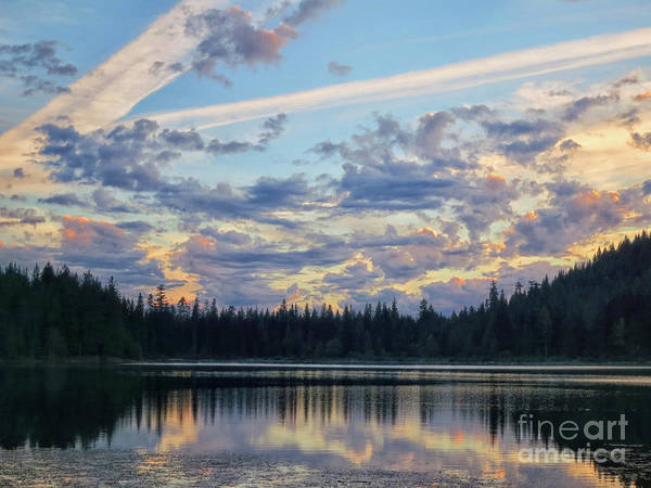 Photograph - Trillium Lake by Karen Adams