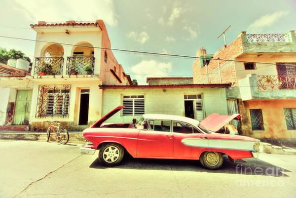 Cuba Photograph - Trinidad Edsel  by Rob Hawkins