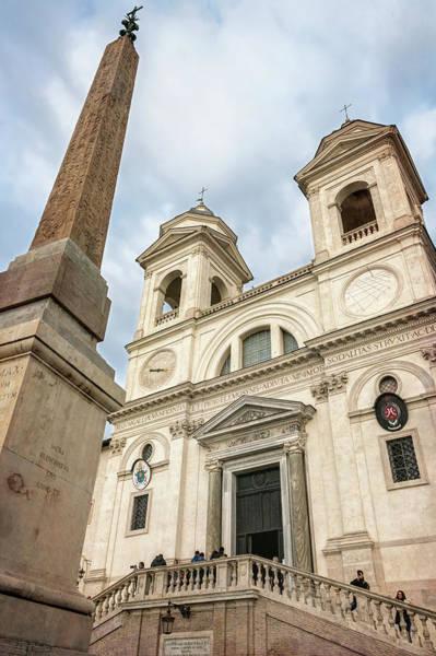 Photograph - Trinita Dei Monti Church Rome Italy by Joan Carroll