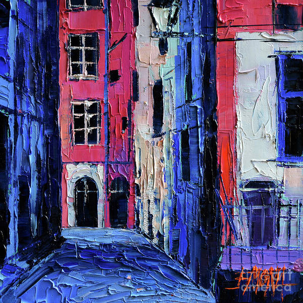 Urban Expressions Wall Art - Painting - Trinite Square - Modern Impressionist Stylized Cityscape by Mona Edulesco