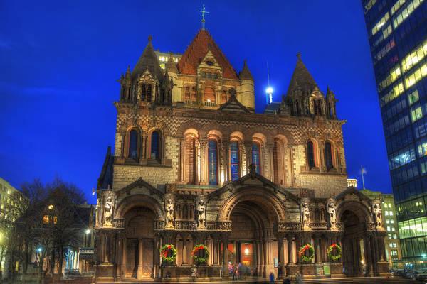 Photograph - Trinity Church - Copley Square - Boston by Joann Vitali