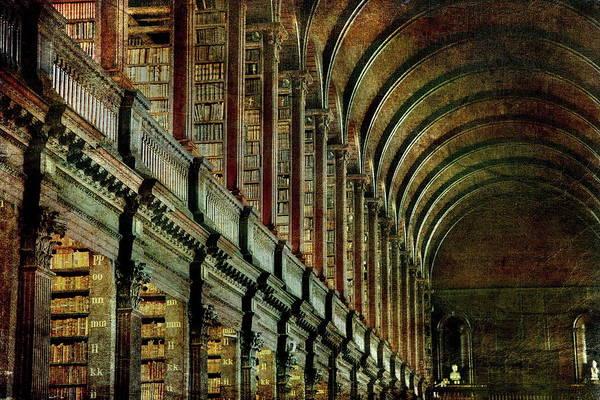 Photograph - Trinity College Library by Vittorio Chiampan