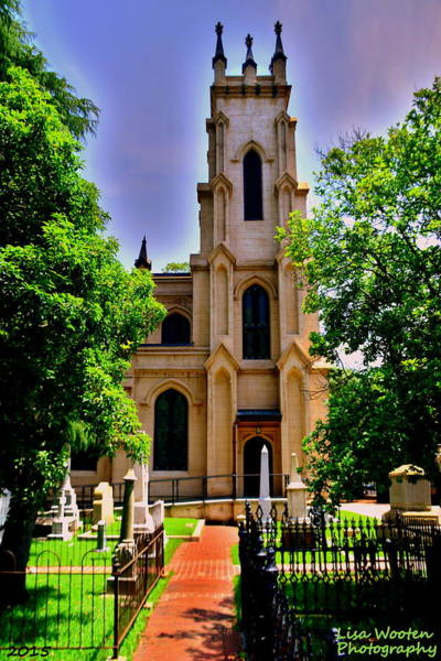 Photograph - Trinity Episcopal Cathedral Columbia Sc Burial Ground by Lisa Wooten