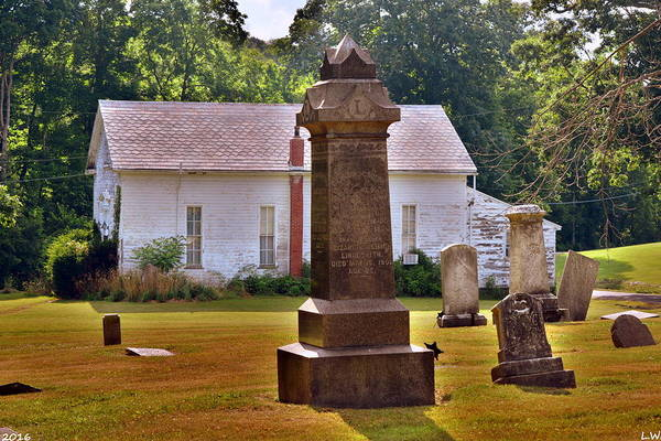 Photograph - Trinity Friends Church And Graveyard by Lisa Wooten