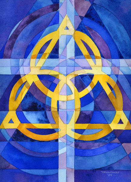 Holy Spirit Painting - Trinity by Mark Jennings