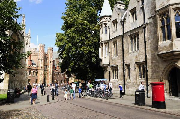 Wall Art - Photograph - Trinity Street In Cambridge by Liz Pinchen