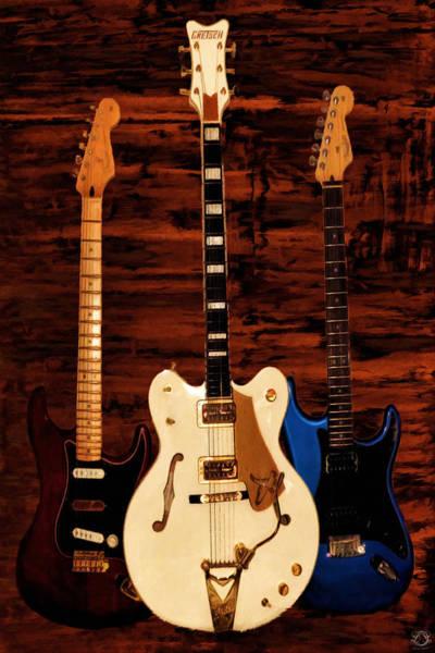 Electric Guitar Photograph - Trio by Lourry Legarde