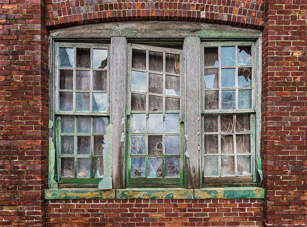 Photograph - Trio Of Broken Windows by Gary Slawsky