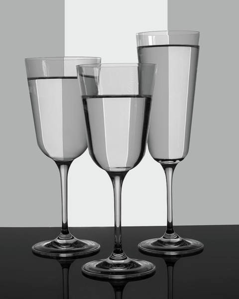 Wall Art - Photograph - Trio Of Glasses by Nikolyn McDonald