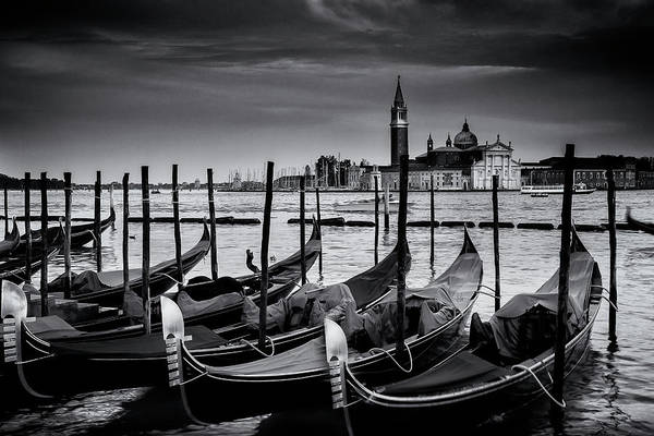 Wall Art - Photograph - Trio Of Gondolas by Andrew Soundarajan