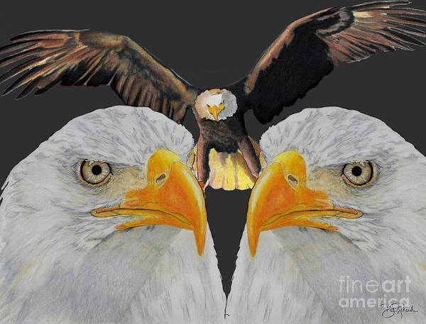 Drawing - Triple Eagle by Bill Richards
