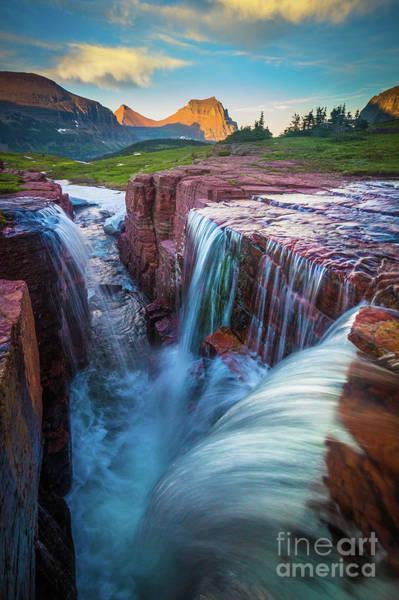 Triples Photograph - Triple Falls Cascades by Inge Johnsson
