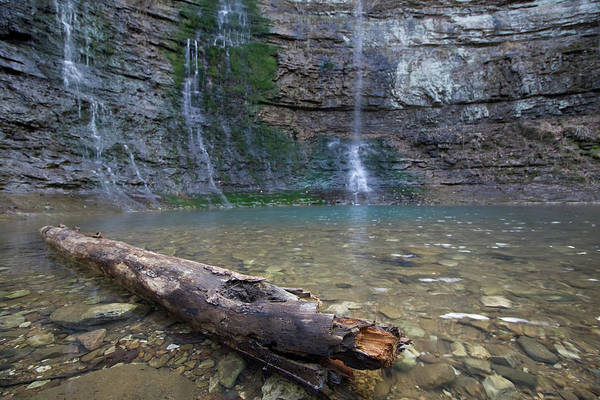 Photograph - Triple Falls Log H2 by Dylan Punke