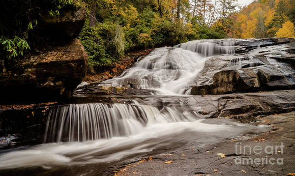 Three Trees Photograph - Triple Falls by DiFigiano Photography