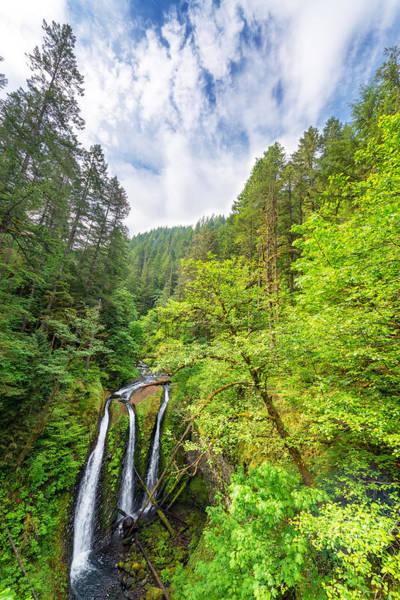 Triple Falls Photograph - Triple Falls Vertical View by Jess Kraft